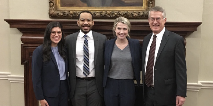 Photo of 2019 moot court team