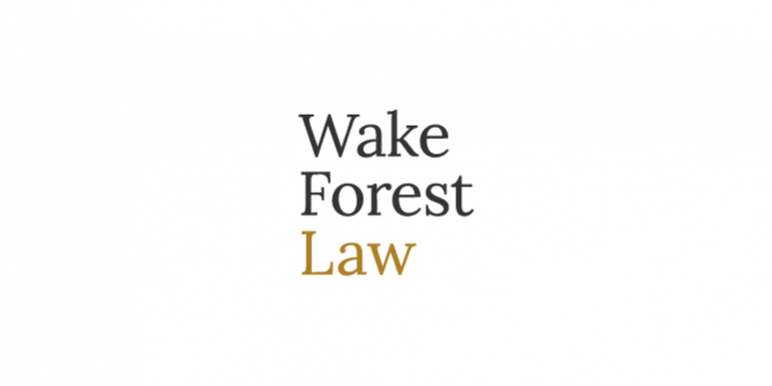 "graphic of the words ""wake forest law"""