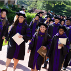 Photo of graduates walking