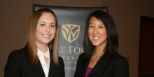 Photo of 40th Stanley Moot Court Competition Finalists Morgan McCall ('13) and Kelley Chan ('13)
