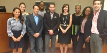 Law students participating in the Pro Bono Project's Teen Drug Court pose with the Honorable Denise Hartsfield (JD '91)