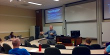 Photo of Professor Ron Wright teaching in a classroom