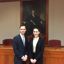 Photo of Blake Stafford (JD '17) and Emily Jeske (JD '17)