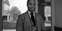 Photo of Wake Forest Law Professor Gregory Parks inside the Worrell Professional Center