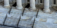 Photo of stairs at court house.